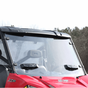 Seizmik Vented Full Front Windshield w| optional hard coat - 2013-18 Full Size Polaris Ranger w| Pro-Fit Cage