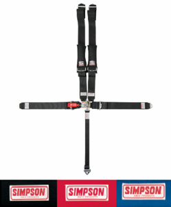 Simpson 3 Inch, 5 Point SFI Approved Off Road Racing Harness - Bolt In