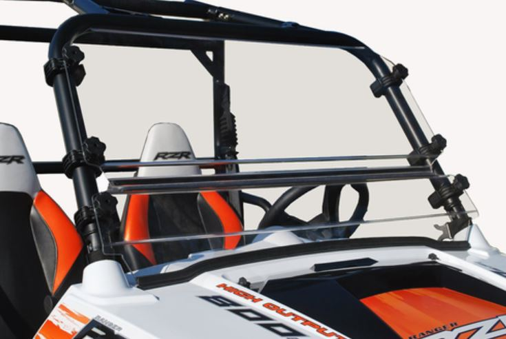 Spike Hard Coated Two Piece Front Windshield   Polaris RZR 570 | 800 | S 800
