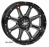 STI HD4 Gloss Black Wheel Set w| Lug Nuts - 12 | 14 | 15 | 17 Inch