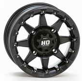 STI HD5 Matte Black Beadlock Wheel Set w / Lug Nuts - 14 and 15 Inch
