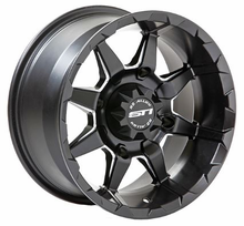 STI HD6 Matte Black Wheel Set w| Lug Nuts - 14 and 17 Inch