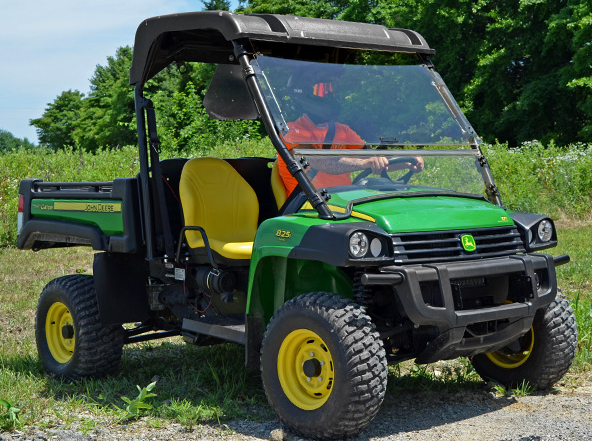 super atv flip up front windshield for john deere gator. Black Bedroom Furniture Sets. Home Design Ideas