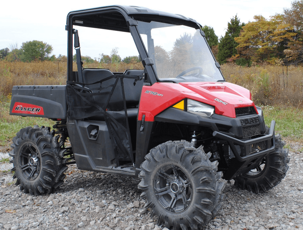 full front windshield for mid size polaris ranger 500 570. Black Bedroom Furniture Sets. Home Design Ideas