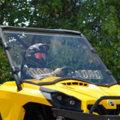 Super ATV Hard Coated Full Front Vented Windshield - Can Am Commander