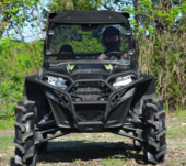 Super ATV Hard Coated Tinted Full Front Windshield - Polaris RZR 570 | 800 | S 800 | XP 900