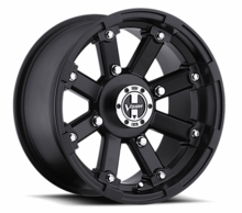 Vision Wheel 393 Matte Black Lock Out Wheel Set w| Lug Nuts - 12 | 14 | 15 Inch