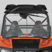 Wash N' Wipe Full Front Windshield by National Cycle - Polaris RZR