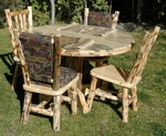 """48"""" Round Solid Wood Table with Pedestal Base"""
