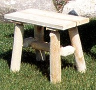 Cedar Straight Bench (pair)