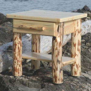 """North Country Side Table with Drawer 28"""""""