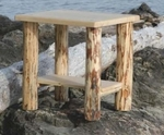 North Country Side Table with Shelf 28""