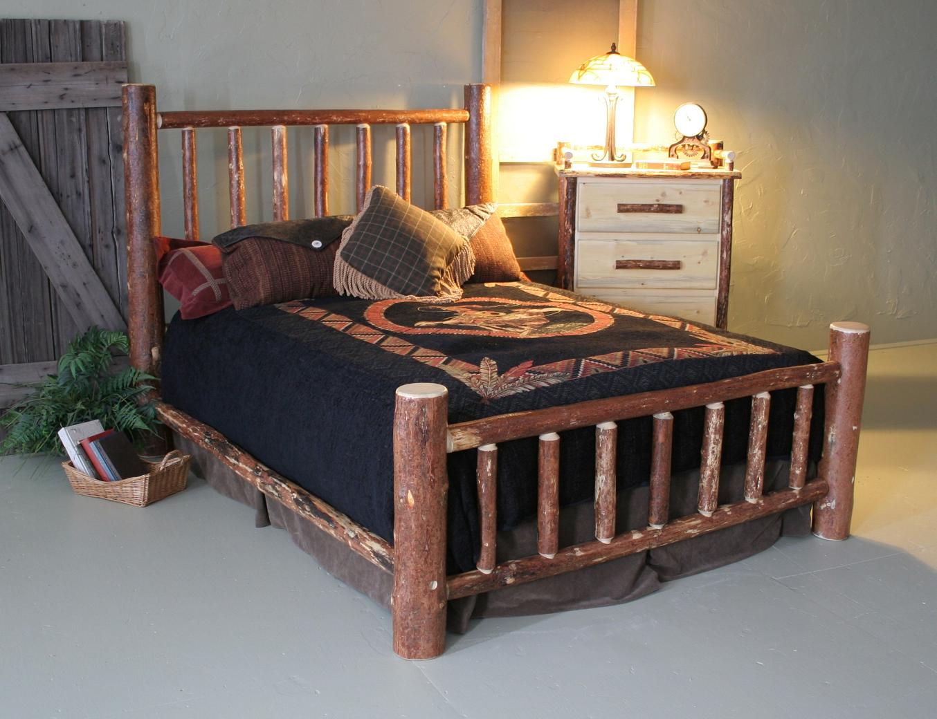 log bedroom sets pine mountain log bed 12154