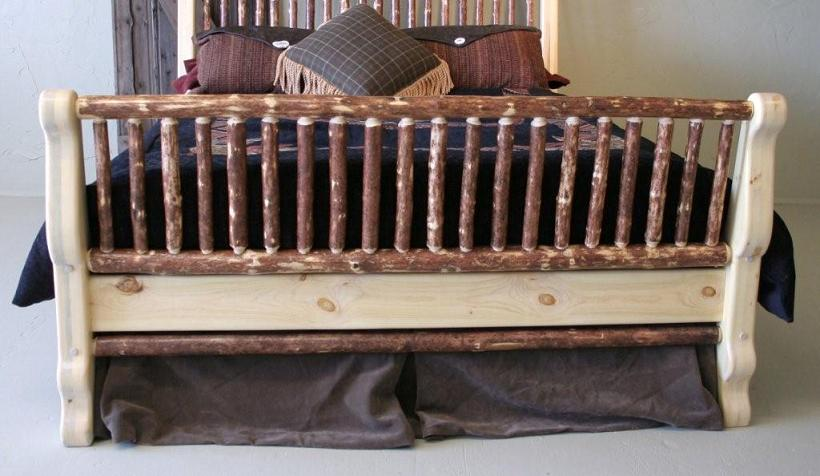 Pine Sleigh Bed