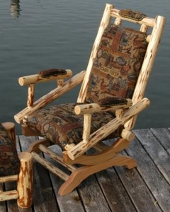 Platform Rocker with Fabric