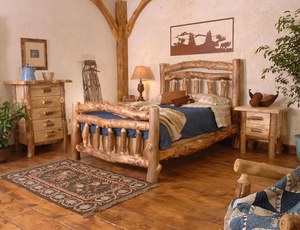 Silver Creek Log Bedroom Set