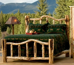 Snow Bend Log Bed