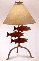 "26"" Fish Table Lamp"