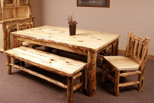6 Feet 4 Legged Aspen Dining Table