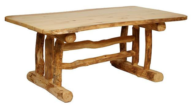 7 feet aspen trestle dining table - lodge craft 7 Foot Dining Table
