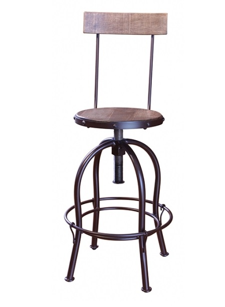 Antique Adjustable Height Barstool