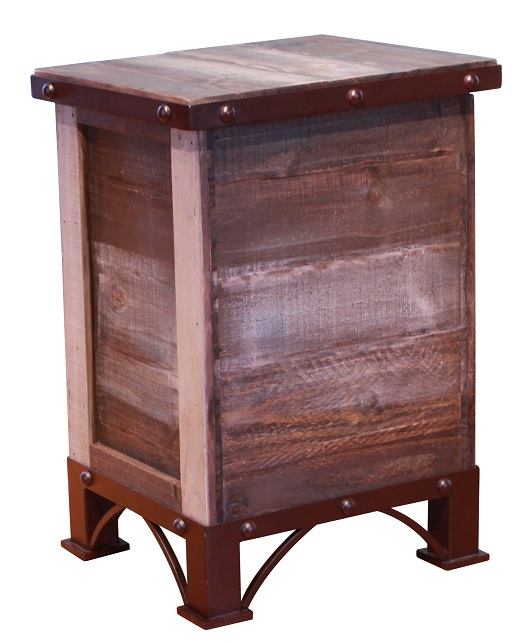 Antique Trunk Storage Chair Side Table