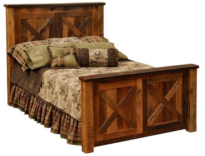 Barndoor style bed rustic beds for sale buy online for Cabin furniture sale