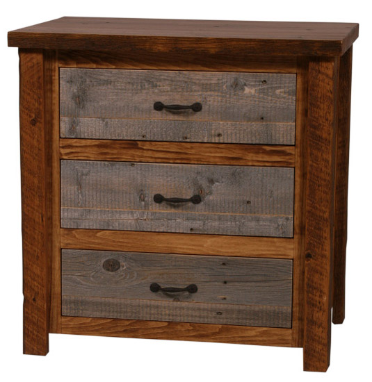 Barnwood 3-Drawer Chest