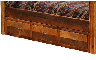 Barnwood 3 Drawer Underbed Dresser