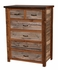 Barnwood 6-Drawer Split Top Chest