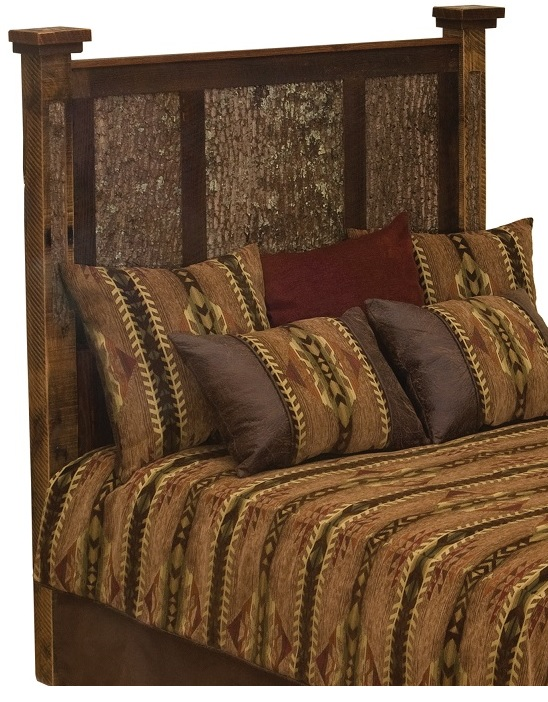 Barnwood Deep Forest Headboard