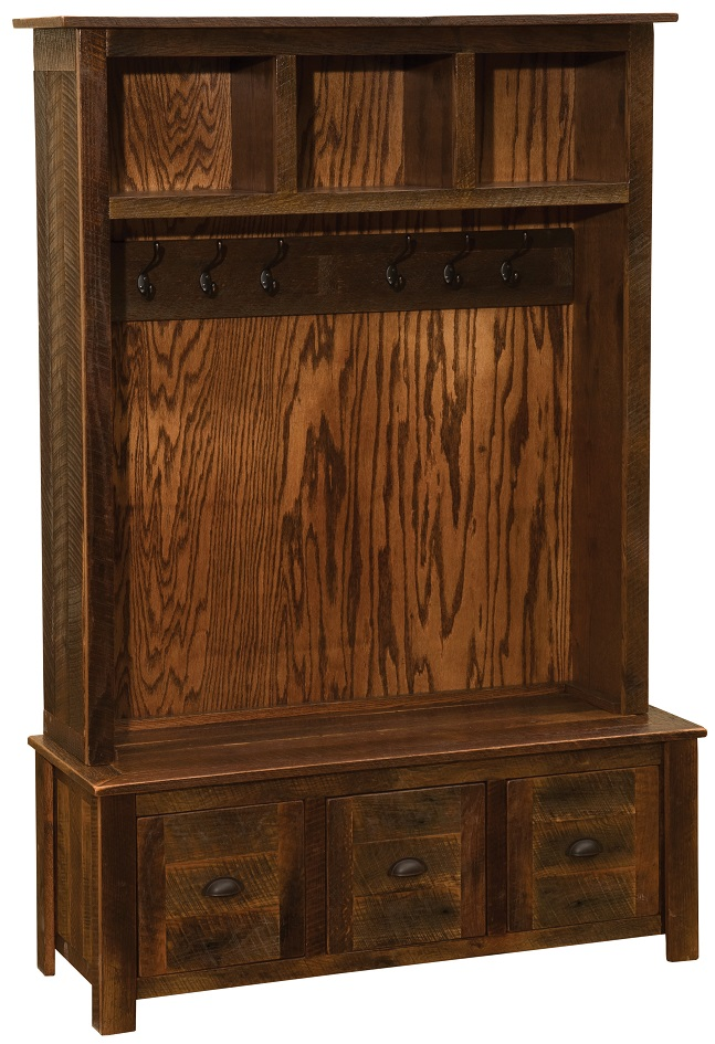 Barnwood Entry Locker Unit