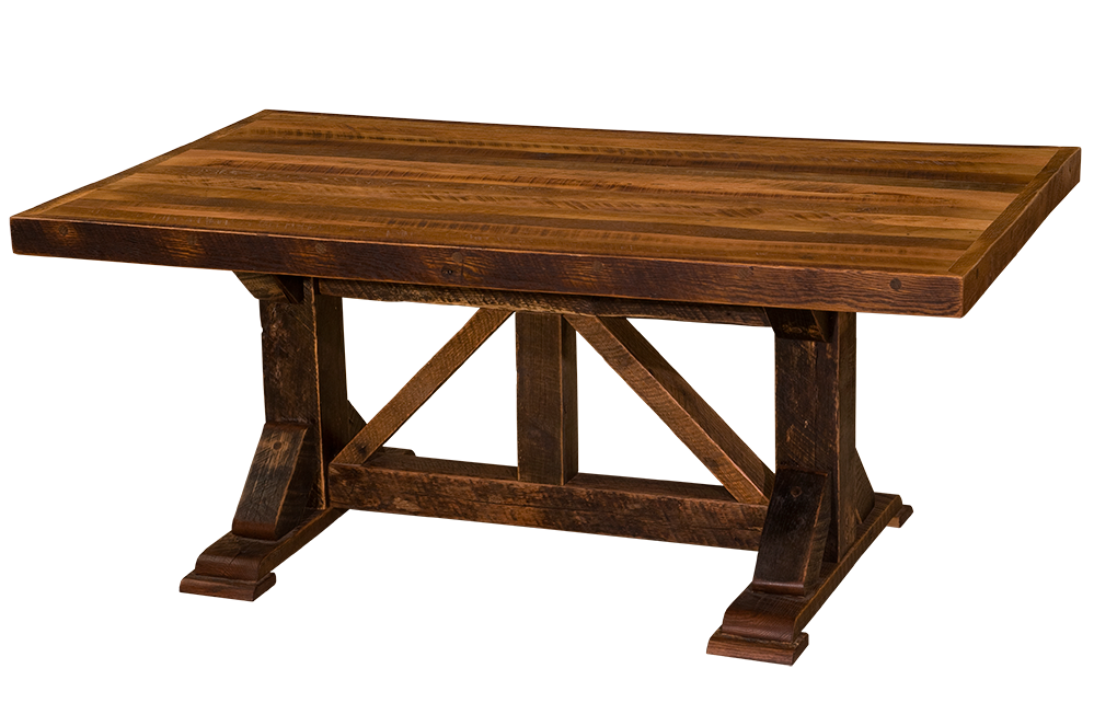 Barnwood homestead counter height eight foot dining table - Barnwood dining room table ...