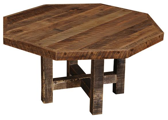 Barnwood Octagon Dining Table
