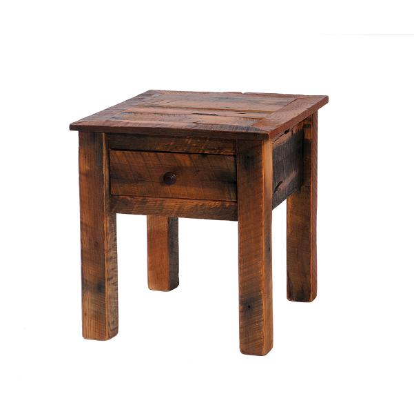 Barnwood One Drawer End Table