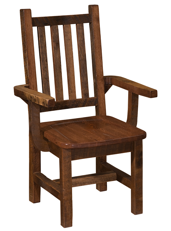 Barnwood Prairie Dining Arm Chair