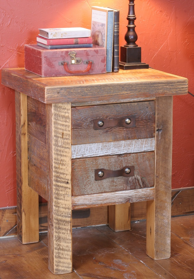Black Mountain Two-Drawer Nightstand