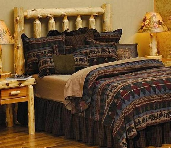 Cabin Bear Comforter Set Wooded River Bedding Lodge Craft