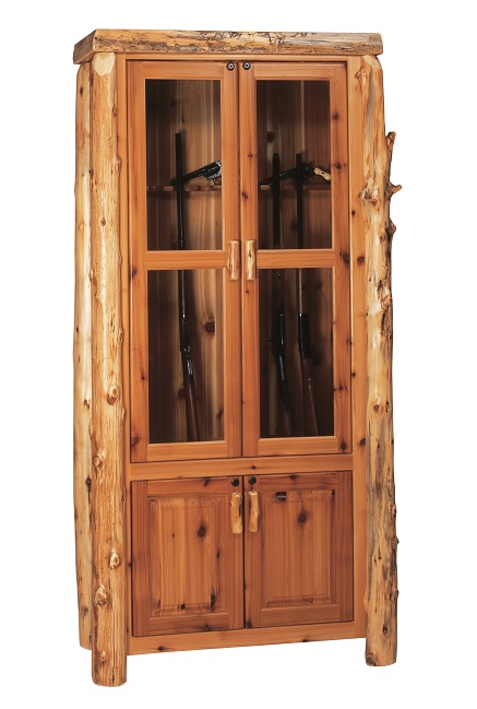 sc 1 st  LodgeCraft & Cedar Log Gun Cabinet