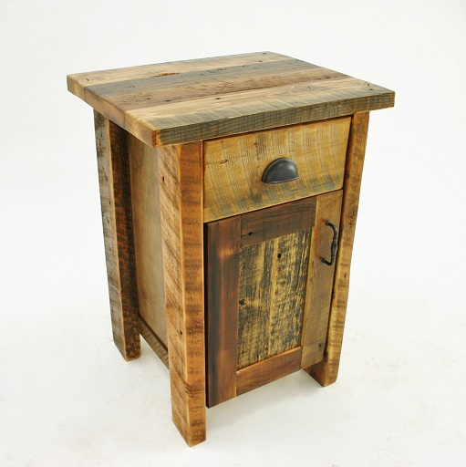 Coonsa Creek Reclaimed Barnwood Cabinet Nightstand