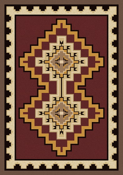 Council Fire Red Rug