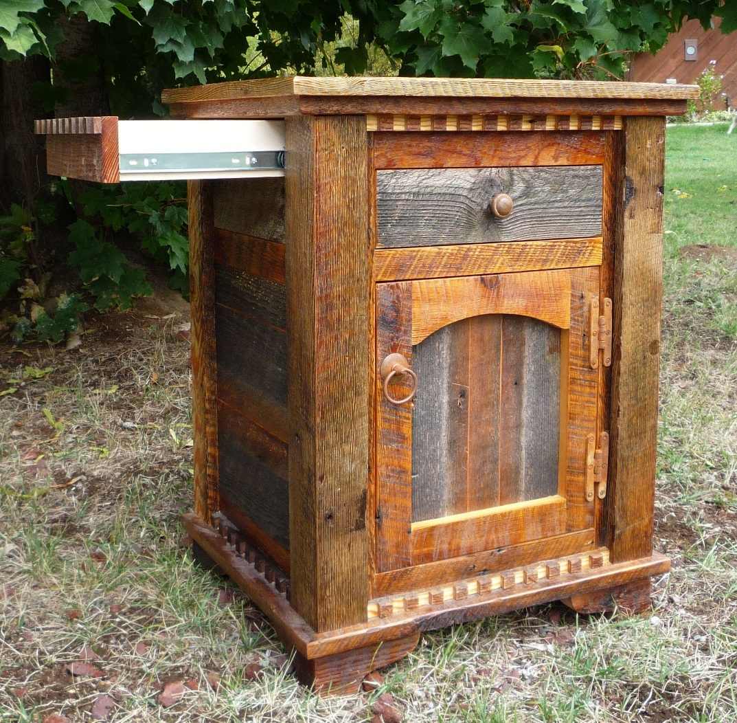 Country Roads Night Stand Lodge Craft