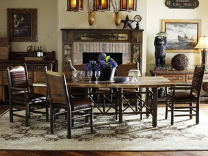 Create the Ideal Rustic Dining Room Setting
