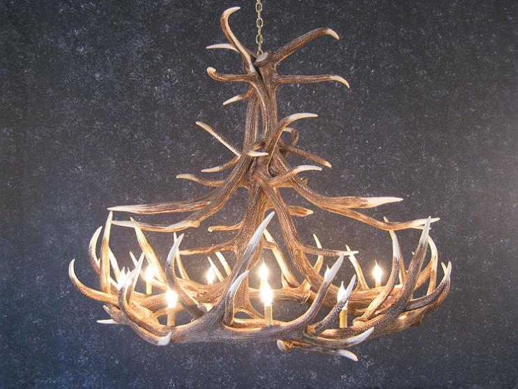 Elk Twelve Antler Chandelier