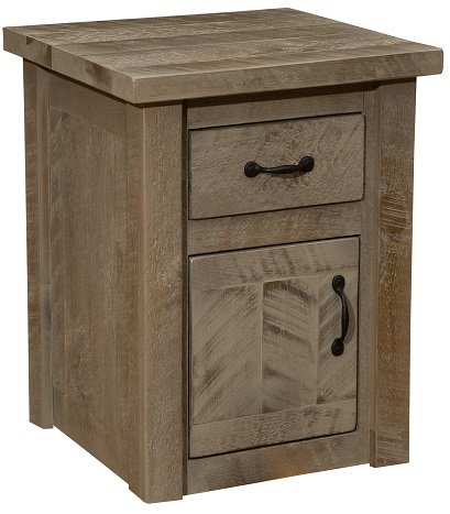 Fireside Lodge Frontier Enclosed End Table