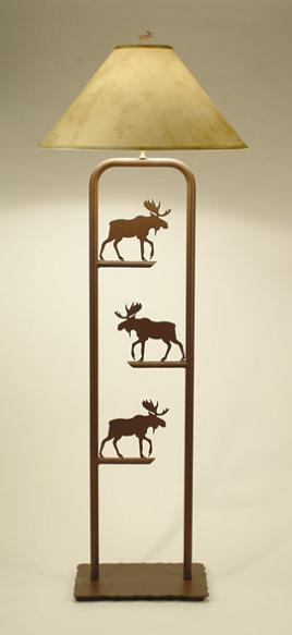 Fortress Floor Lamp with Moose