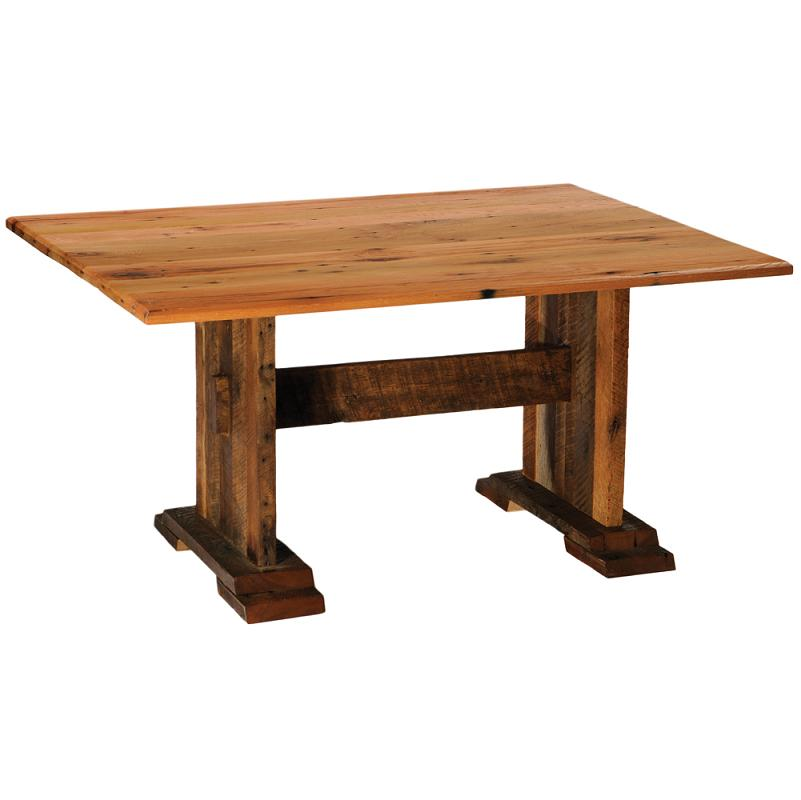 harvest barnwood dining table lodge craft