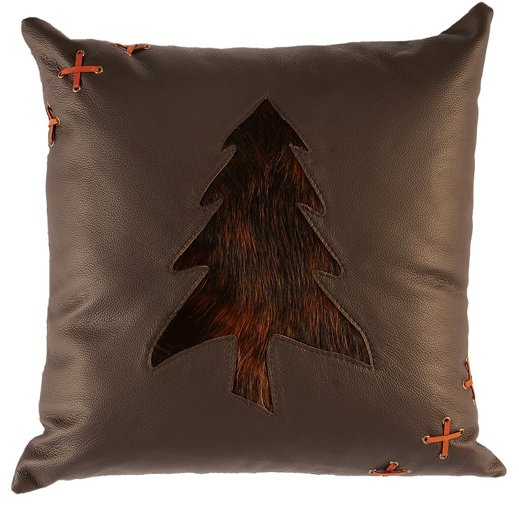 Leather Tree Pillow WD1948