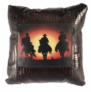 Sunset Ride Leather Pillow WD1955