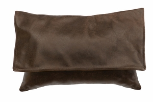 Flapped Timber Leather Pillow WD80204